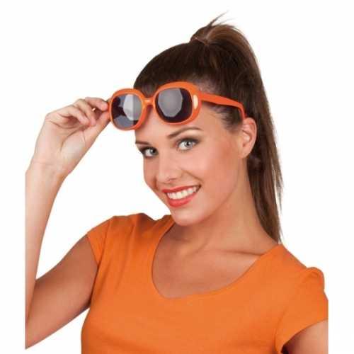 Oranje bril donkere glazen
