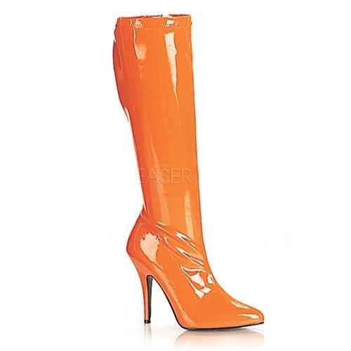 Oranje gogo laarzen hak