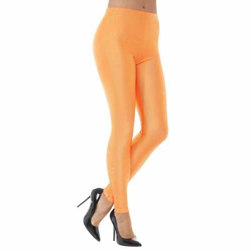 Oranje spandex verkleed legging dames