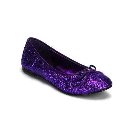 Paars gekleurde ballerina schoenen glitters