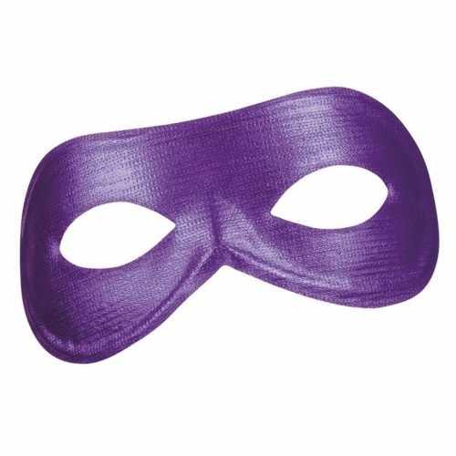 Paars metallic oog masker dames