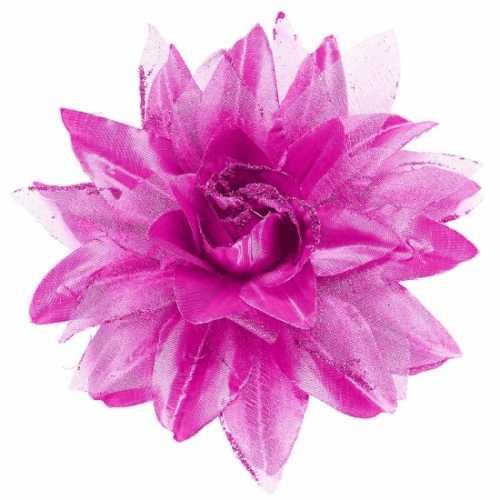 Paarse bloem haarspeld glitters