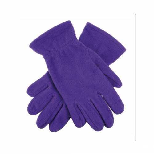 Paarse fleece handschoenen mannen dames