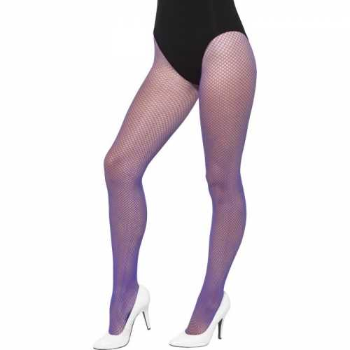 Paarse gaatjes dames panty