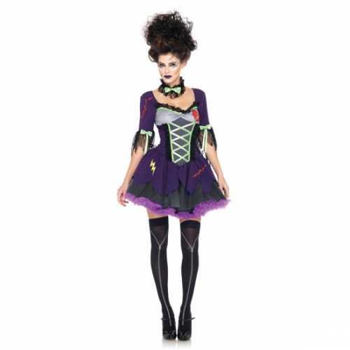 Paarse zombie jurk strikken