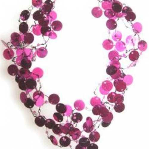 Pailletten kettingen roze