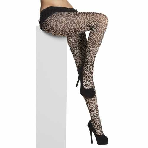Panty 40 denier luipaard/panter dames