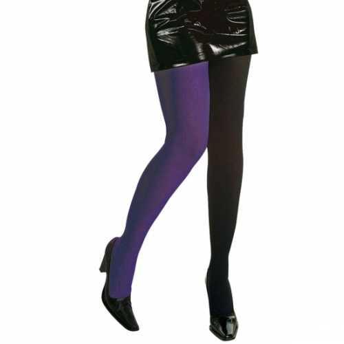 Panty een zwart een paars been