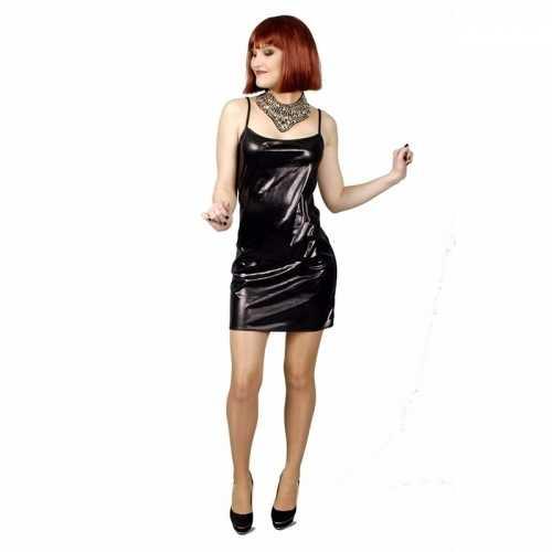 Party verkleedkleding zwart jurkje dames