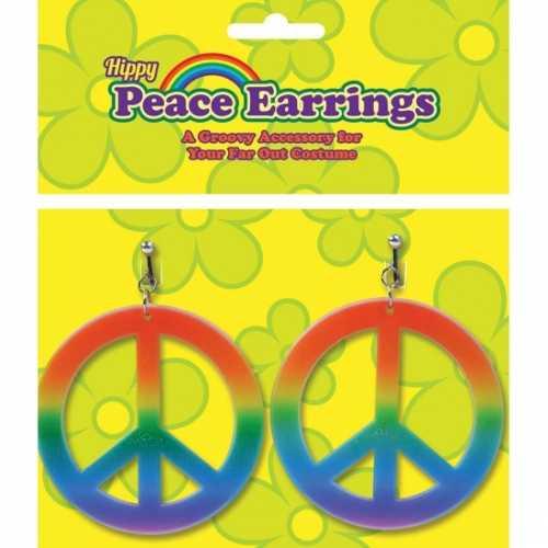 Peace oorbelletjes