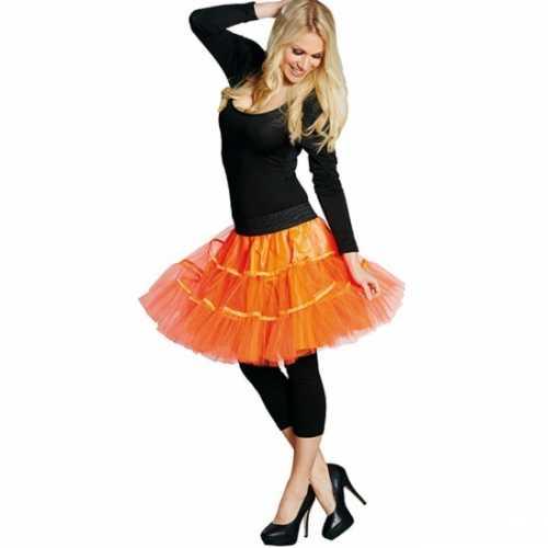 Petticoat dames neon oranje