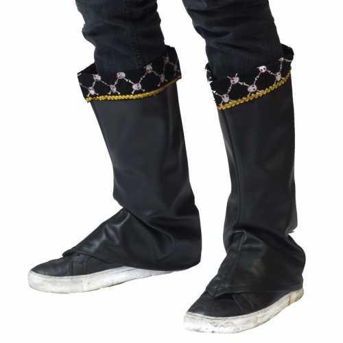 Piraat verkleedaccessoire laarshoezen/schoenhoezen dames