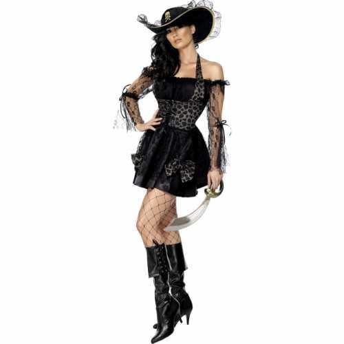 Piraten verkleedkleding dames zwart