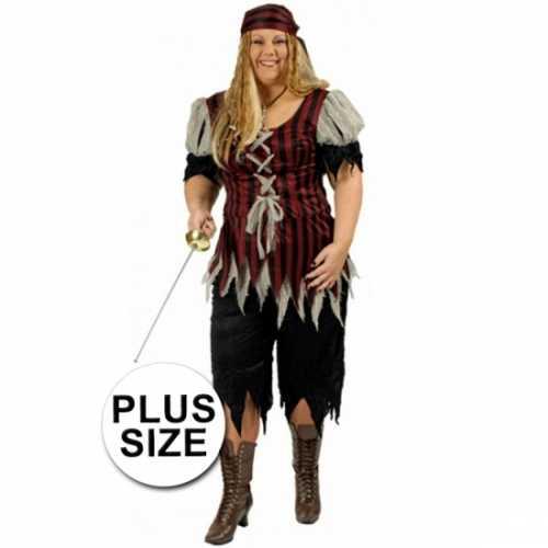 Piraten verkleedkleding grote maat dames