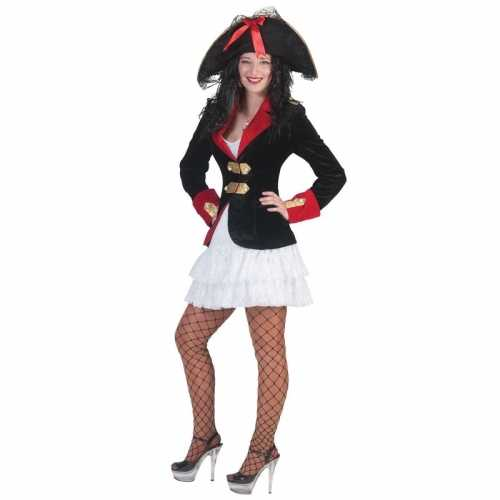 Piraten verkleedkleding jasje jurkje dames