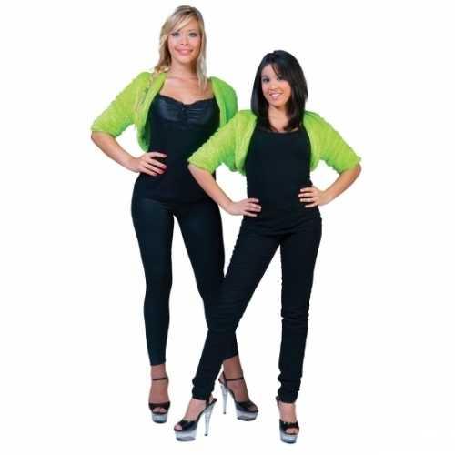 Pluche groen jasje dames
