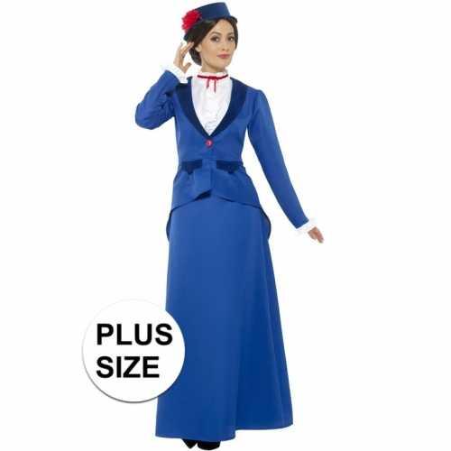 Plus size klassiek kinderjuf verkleedkleding dames