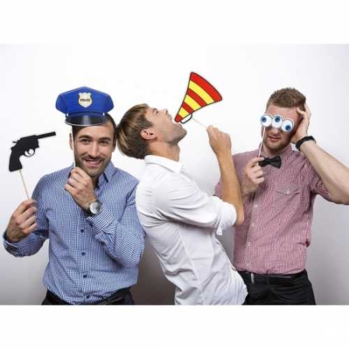 Politie foto accessoires op stokje