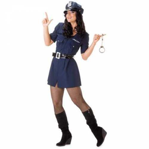 Politie verkleedkleding jurkje