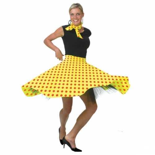 Rock Roll verkleed rok geel