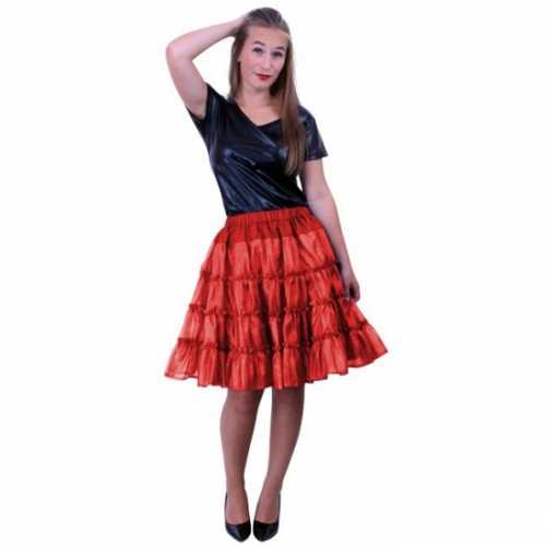 Rode 5 laags petticoat dames