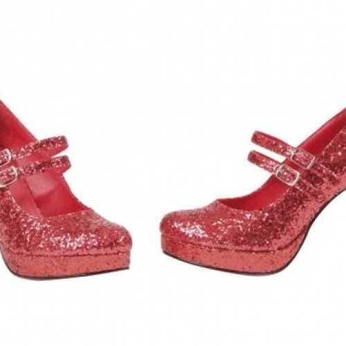 Rode glitter schoenen