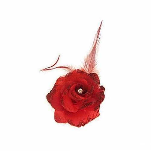 Rode haarbloem elastiek