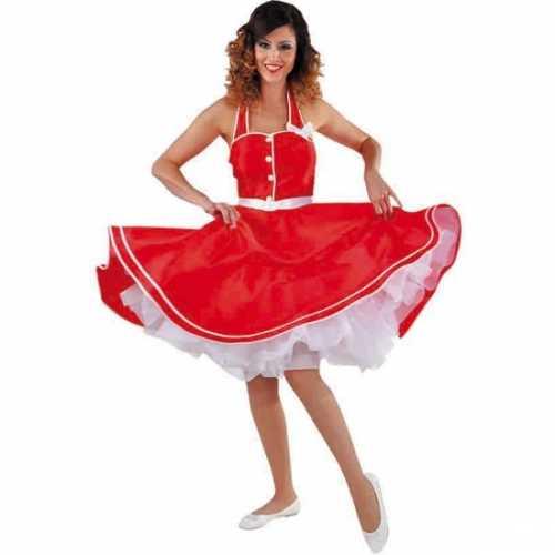 Rode halterjurkje dames