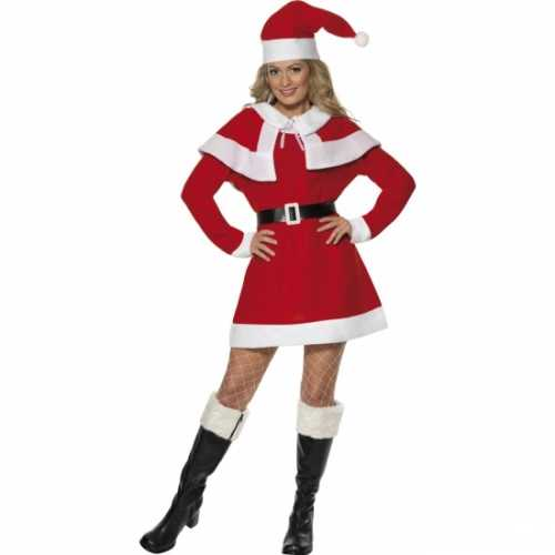 Rode kerstjurkjes cape