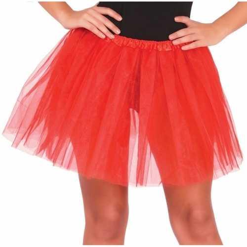 Rode verkleed petticoat dames 40
