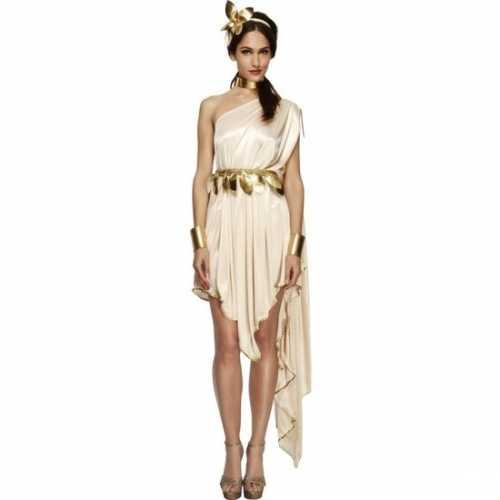Romeinse godin verkleedkleding jurk dames