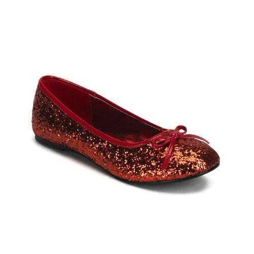 Rood gekleurde ballerina schoenen glitters
