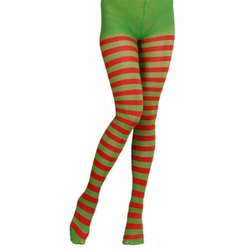 Rood/groene panty dames