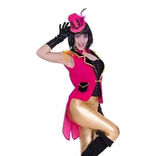Roze circus verkleedkleding set dames maat s/m