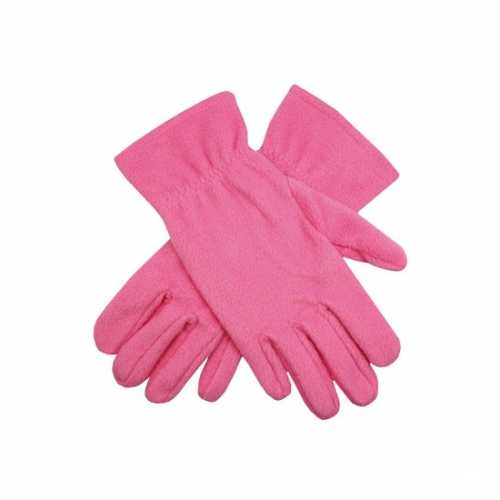 Roze fleece handschoenen mannen dames