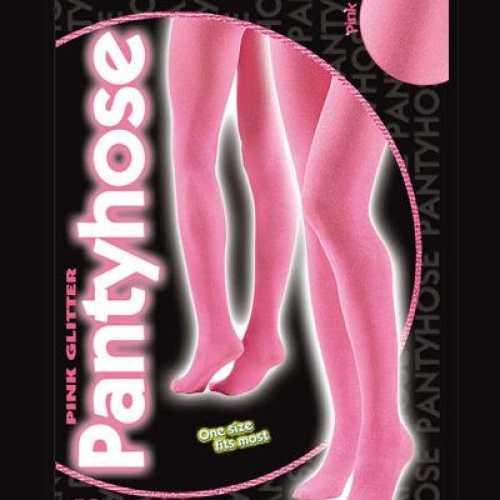 Roze glitterende panty dames