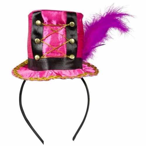 Roze mini hoedje op diadeem