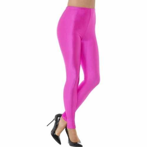 Roze spandex verkleed legging dames