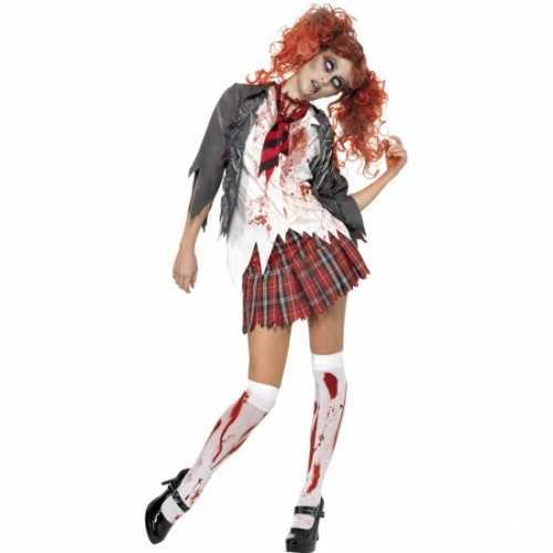 Schoolmeisje verkleedkleding bloed