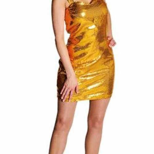 Sexy dames jurkje goud
