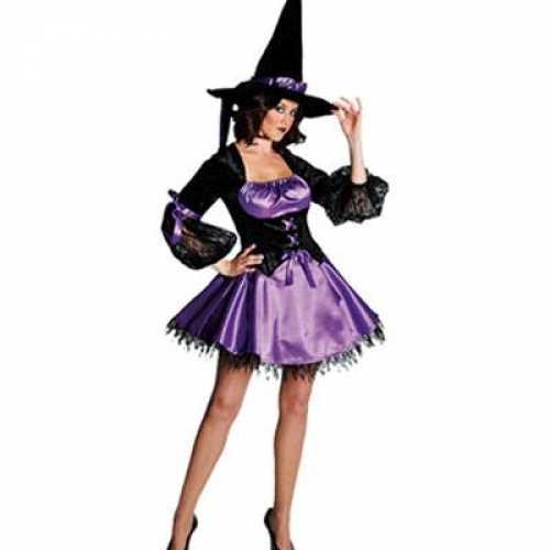 Sexy heksen jurk afgezet kant