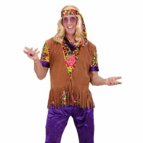 Sixties hippie vest hoofdband heren