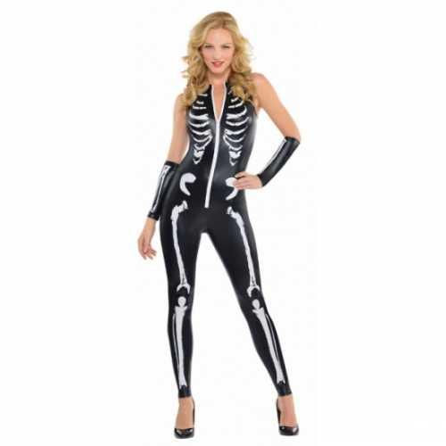 Skelet verkleed verkleedkleding dames