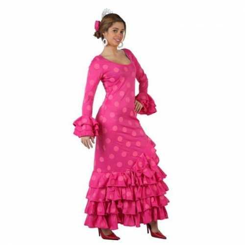 Spaans dames verkleedkleding roze