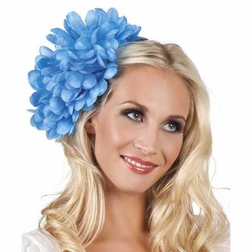 Spaanse bloem haarklem blauw 20