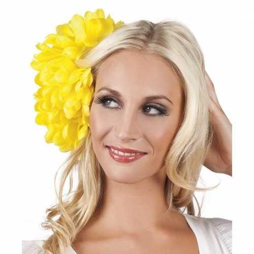 Spaanse bloem haarklem geel 20