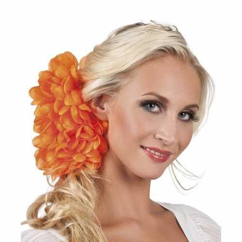 Spaanse bloem haarklem oranje 20
