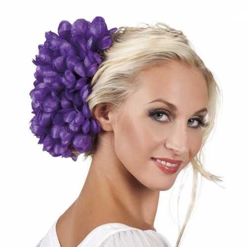 Spaanse bloem haarklem paars 20