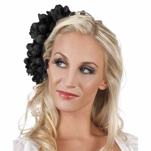 Spaanse bloem haarklem zwart 20