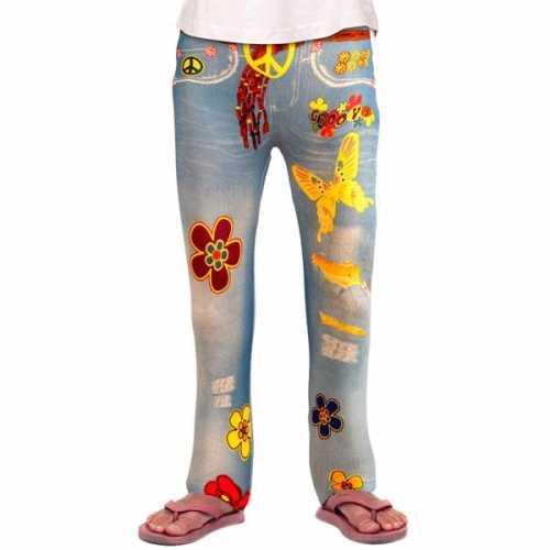 Spijkerjeans legging hippie meiden